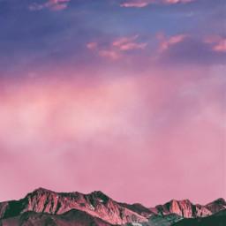 freetoedit background sky clouds cloud pinkclouds araceliss mountain