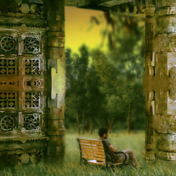 freetoedit mastershoutout oldbuilding nature waitingforsomeone