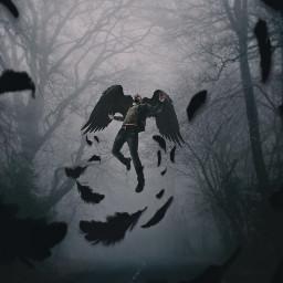 surreal fauspre darkart dark madewithpicsart heypicsart myedit editbyme madebyme mycreation forest