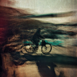bicycle longexposure colors abstract street mobilephotography shadow blur speed art