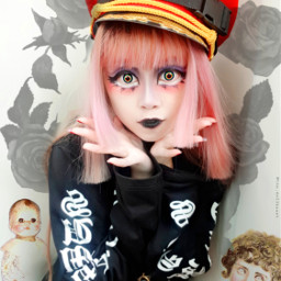 gothgirl creepygirl creepyaesthetic darkfashion darkstyle alternative altgirl gothicfashionv gothicgirl gothgf harajuku freetoedit