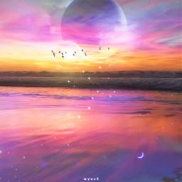 gradation spacart skyart sky planets freetoedit