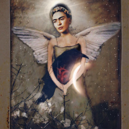 freetoedit fridakahlo frida unibrow_queen iconic