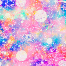 freetoedit glitter sparkle galaxy space stars shimmer colorful pattern bling planets constellations cute girly kawaii cosmos pastel background overlay wallpaper