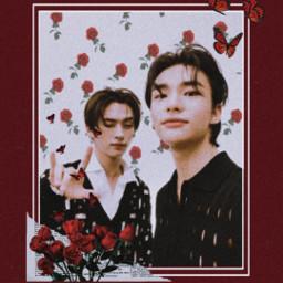 red redrose hyunjin straykids minho leeknow freetoedit srcrosesarered rosesarered