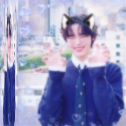 cravity seongmin catboy kpop freetoedit