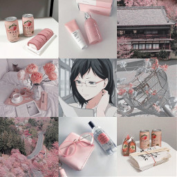 kiyoko haikyuu anime moodboard aesthetic kiyokoshimizu shimizukiyoko shimizutanaka haikyuu!! haikyuuaesthetic animemoodboard aestheticmoodboard moodboardaesthetic pink white cherryblossom glasses peachdrink bike breakfast beauty beautyproducts pinkandwhite pinkandwhiteaesthetic freetoedit