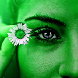 freetoedit green greenaesthetic flowergirl nature