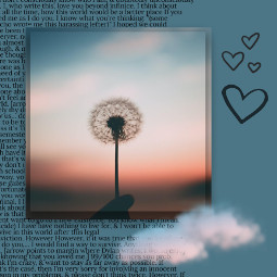 aesthetic silhouette dandelion doodlehearts clouds aestheticclouds pretty freetoedit ircdandelionsilhouette dandelionsilhouette