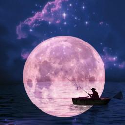 freetoedit sky night nightsky moon