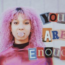 aesthetic aestheticedit letters letteraesthetic woman art artsy pinkhair pink