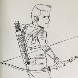 marvel mcu hawkeye art drawing clintbarton