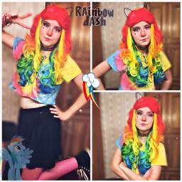 rainbow rainbowcosplay rainbowdash rainbowdashcosplay mlp mlpcosplay mylittlepony mylittleponycosplay cartoon cartooncosplay cosplay cosplayer cosplaying colorful weeblet101 yeet yee yay pop freetoedit