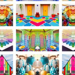colors colorfulscene rainbow neon bright wow colorful cottoncandy doorway gate entrance dimensions portals timetravel