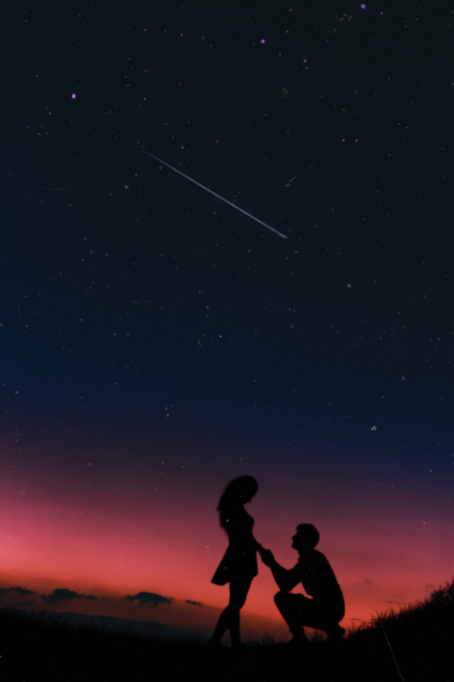 #couple #love #marriageproposal #galaxy #freetoedit