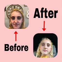 beforeandafter makeuptutorial freetoedit