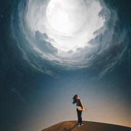 sky desert nightsky freetoedit