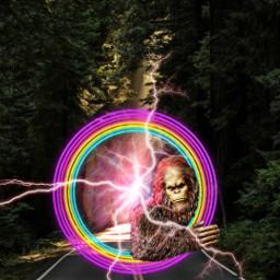 freetoedit remix challenge picsart picsartedit bigfoot forest mystic strange sciencefiction picsartchallenge horror fantasy ircgorgeousforest gorgeousforest