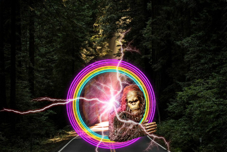 #freetoedit #remix #challenge #picsart #picsartedit #bigfoot #forest #mystic #strange #sciencefiction #picsartchallenge #horror #fantasy @picsart