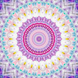 digitalart modernart popart artisticexpression pink mandala kaleidoscope design mydesign myedit freetoedit