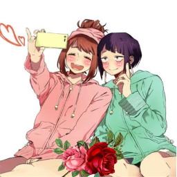 mha anime kyokajirou ochacouraraka rosesticker freetoedit