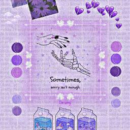 purple purpleaesthetic loveyourself sadness sorry motivation imhereforyou imsorry everythingwillbeokay love selflove selfloveisthebestlove freetoedit