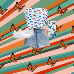 butterfly butterflyaesthetic airforces croptop freetoedit