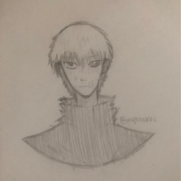 anime drawing doodle art traditionalart animeart sketch kaneki kenkaneki kanakiken tokyoghoul