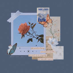 aesthetic scrapbook flowers aestheticblue blue quotes butterfly butterflies scrapbooking aestheticflowers rose interesting lol freetoedit