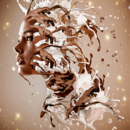 inspiration portrait explosion picsart photooftheday chocolate cream stinawalfridson