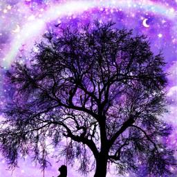 swing galaxy alone dreamer freetoedit
