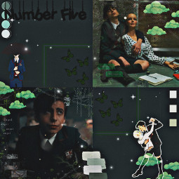 theumbrellaacademy fivehargreeves aidangallagher darkgreen greenaesthetic freetoedit