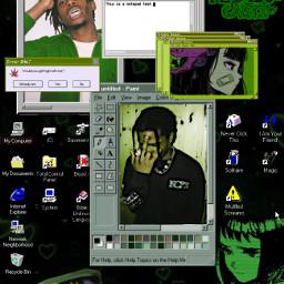 playboicartiedit playboicarti playboi anime eyes windows computer rap rapnation popculture green emorap aesthetic aestheticedit aestheticanime freetoedit