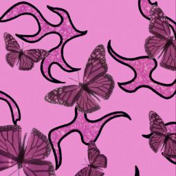 pink pinkaesthetic butterfly butterflies pinkbutterflies pretty sparkles glitter flames fire cute aesthetic barbie thrasher papillon 💖💖💖 freetoedit papillon