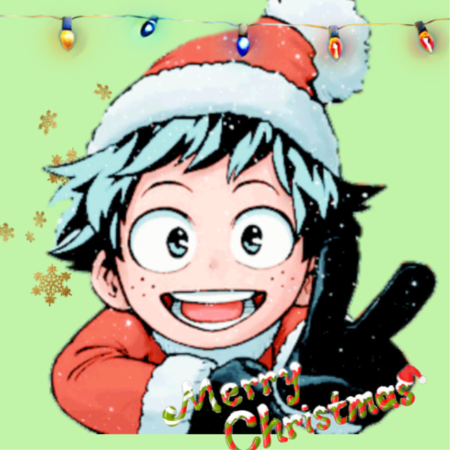 #merrxmas from deku and his friends!