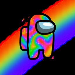 rainbow amongus freetoedit
