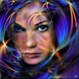 myart artistic magiceffect portrait neon