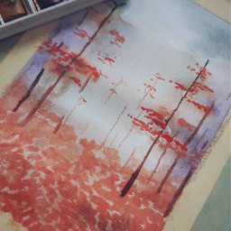 painting aquarell autumn