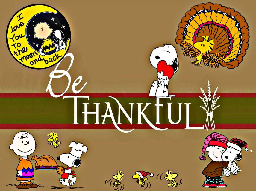 #bethankful #thankful #thanksgiving #charliebrown #snoopy #peanuts #art #cartoon #turkeys #hugs #iloveyoutothemoonandback #moon #text #quotesandsayings #quotes