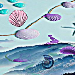 mountains seashells doubleexposure multieffect hdreffect colorful starfish freetoedit ecimagineabrighterreality imagineabrighterreality