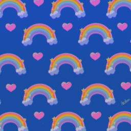 aesthetic rainbow rainbowaesthetic heart hearts cute pattern rainbowpattern drawing digitaldrawing drawingonsmartphone freetoedit