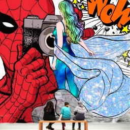 freetoedit remix editedwithpicsart mrlb2000 hero drawing spiderman museum myart cool awesome stunning art comic