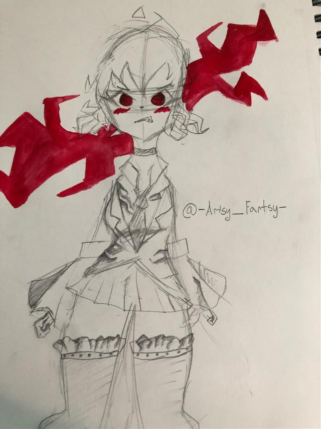 ruffles, Ruffles RUFFLES, SO MANY RUFFLES! 🙃 #interesting #fyp #cutie #art #diodles #red #drawing #artwork #doodle #watercolor #Oc #school #schoolgirl #red #aesthetic #redaesthetic #cute #anime #animeart #animeartstyle #freetoedit #freetoremix #remixit #editit #ArtsyFartsy