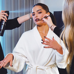 freetoedit addisonrae makeup artist white lipstick nails girl face remixit remixed heypicsart makeawesome replay beautiful perfect