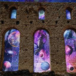galaxy galaxyedit arches surreal surrealart universe planet stars astronaut magic light edit editedbyme editedwithpicsart myedit myphoto myart myremix remix art photography freetoedit