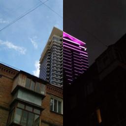 freetoedit skyscraper light neon day night