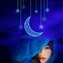fantasyart makebelieve myimagination becreative sky moonlight woman dreamy surreal surrealistic stickerart heypicsart picsartmaster masteredit myedit madewithpicsart freetoedit unsplash