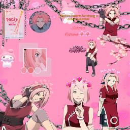 sakuraharuno aesthetic anime cute sakurablossoms heartcrowns pinkaestheticbackground freetoedit