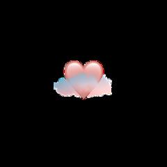 iphone emoji iphoneemoji sticker iphonesticker pink heart blue orange clouds cloud cute aesthetic picsart crown heartcrown freetoedit