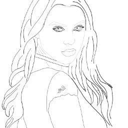 freetoedit outline picsart madewithpicsart girl